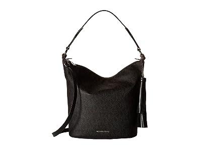 00f2713911a5 MICHAEL Michael Kors Women's Elana Large Convertible Shoulder Black Handbag