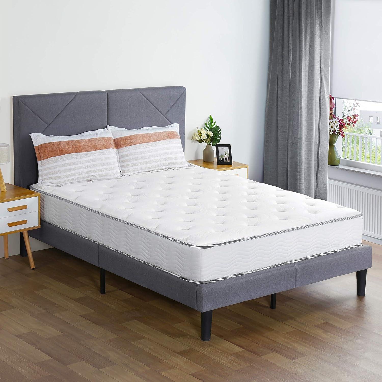 Olee Sleep 10 Inch Milky Way Tight Top Hybrid Mattress Queen White Furniture Decor