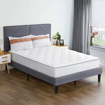 Queen Mattress Firm Luxury Bed Tight Top Spring Comfort Back Neck Support Size