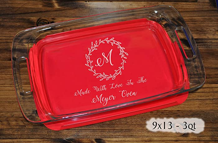 Amazon.com Personalized Monogram Gifts | Wedding Gift For Couple | Personalized Baking Pan | Family Name Gift | Engraved Baking Pan | Christmas Gifts ... & Amazon.com: Personalized Monogram Gifts | Wedding Gift For Couple ...