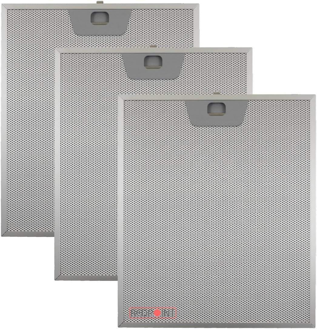Kit de 3 piezas. Filtros de aluminio para campanas Faber 253 x 300 x 8 mm.