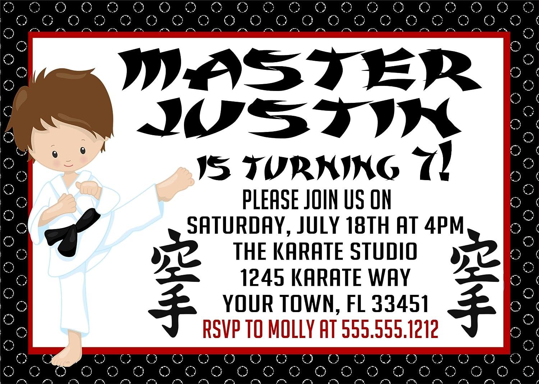 Amazon.com: Karate Birthday Party Invitations: Handmade