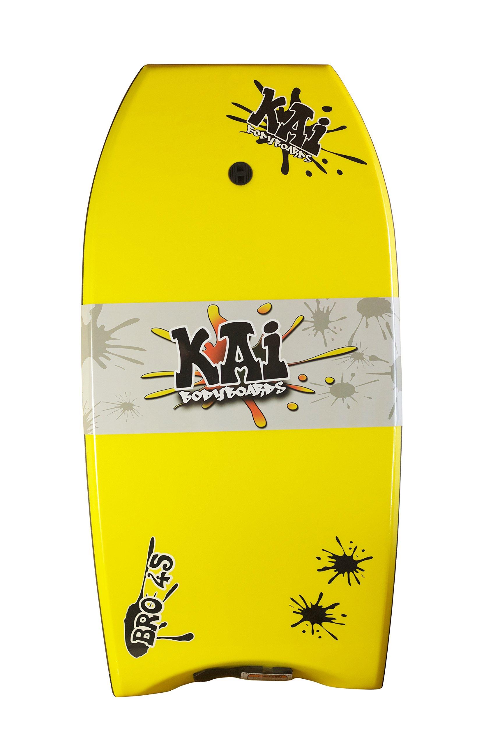 Kai Bodyboards Bro 45'' (Yellow w/Black Rails)