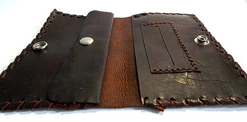 Funda tabaco de liar cuero, pitillera cuero, tabaquera cuero, cuero marrón, bolsa tabaco: Amazon.es: Handmade