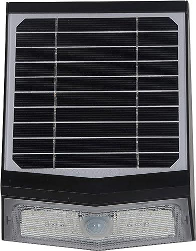Adjustable Solar Powered Motion Sensor LED Outdoor Wall Pack Wireless Security Light around Garage, Front Door, Courtyard, Garden, Pathway