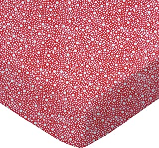 product image for SheetWorld Fitted 100% Cotton Percale Cradle Sheet 18 x 36, Confetti Dots Red, Made in USA