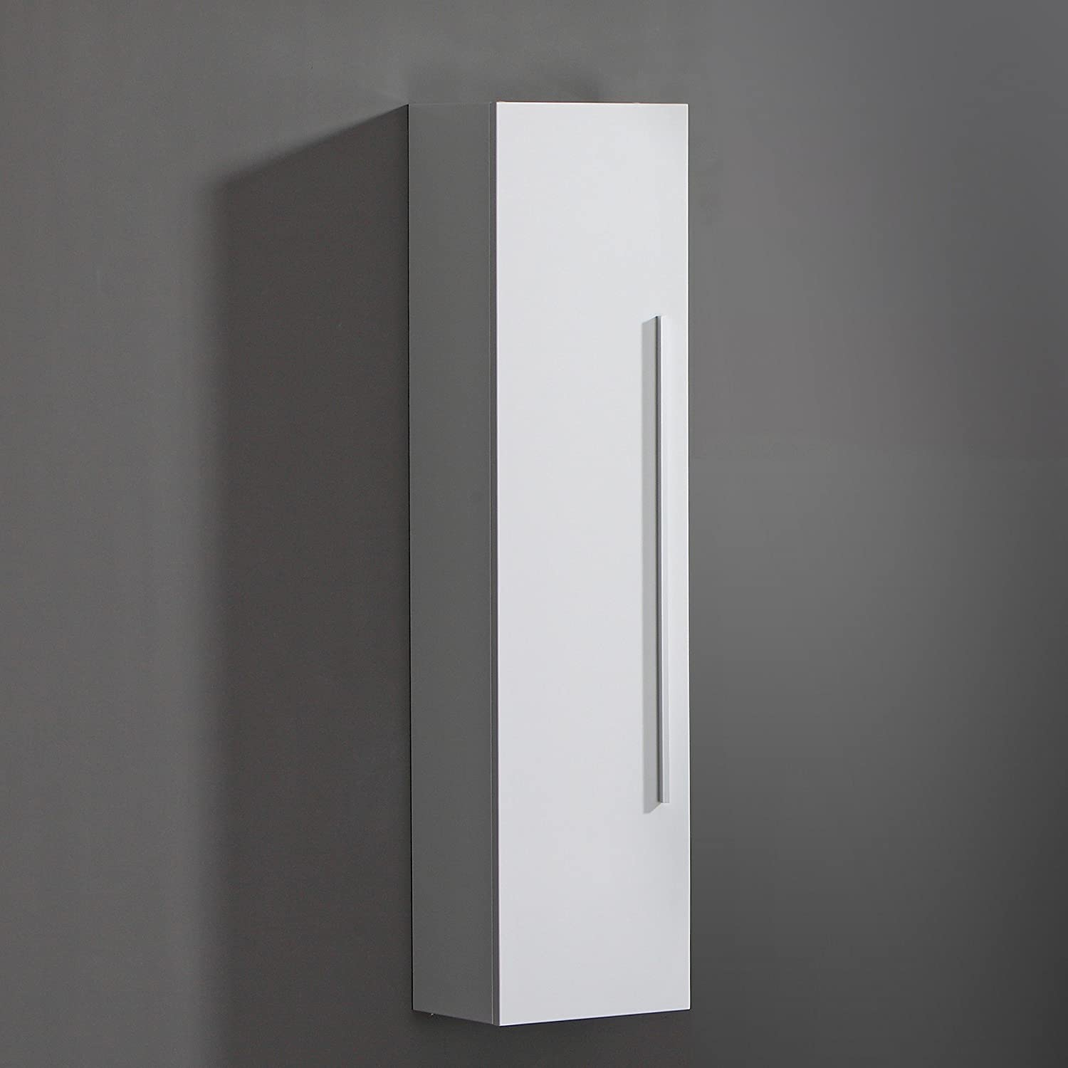 tall bathroom cabinets white gloss
