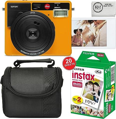 Leica Sofort película instantánea Cámara (Naranja) + Funda para cámara + Fuji Instax Mini película de Color (20 Hojas): Amazon.es: Electrónica