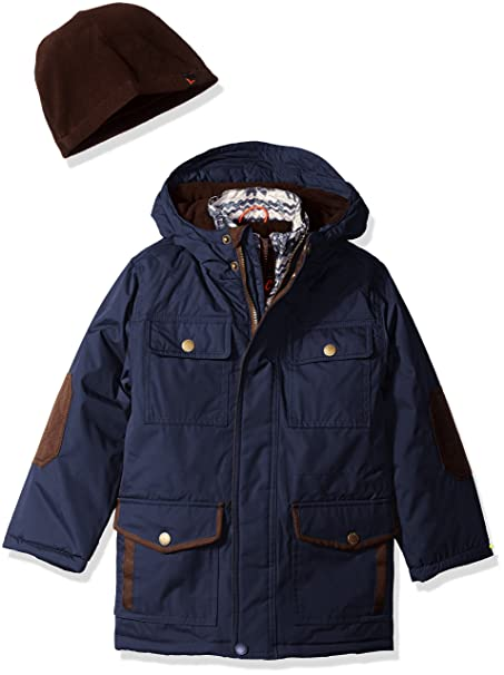 Hawke /& Co Boys Vestee Parka with Contrast Vestee Jacket