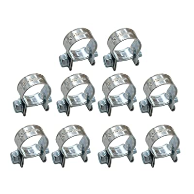 "XtremeAmazing Replacement for 5/16"" Fuel Injection Hose Clamps (Pack of 10) 1/2"" - 9/16"" Dia: Automotive"