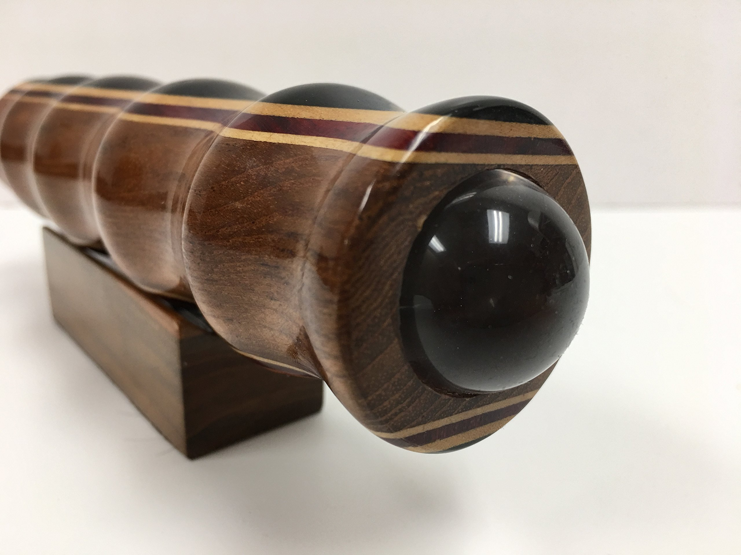 N & J Kaleidoscope Teleidoscope in Teak, 7 Inch Barrel, Laminated Solid Woods Including Padauk, Jalneem and Ebony by N & J (Image #2)