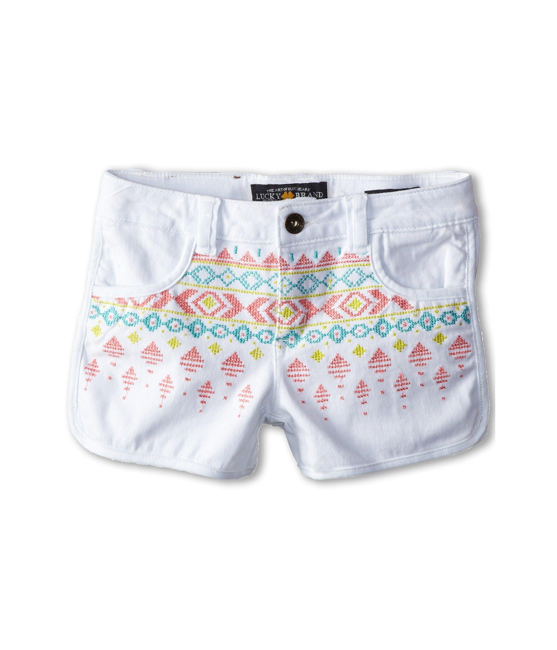 Lucky Brand Kids Girl's Jada Short (Big Kids) Bright White 12
