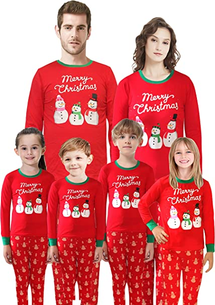 amazon com matching family pajamas christmas santa claus sleepwear