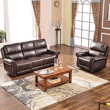 Amazon Com Harper Bright Designs Sectional Recliner Sofa Set
