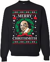 Mike Tyson Merry Chirithmith Ugly Christmas Sweater Unisex Sweatshirts Black