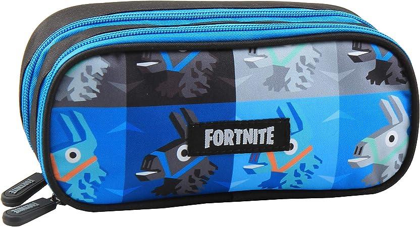 Fortnite Lama - Estuche (tamaño XL, 2 compartimentos, 20 x 8,5 x 6 cm), color azul: Amazon.es: Oficina y papelería