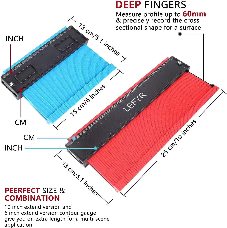 Jauge de Contour Profil Broaden 2pcs 25cm et 12cm Copieur de Contour Profil D...