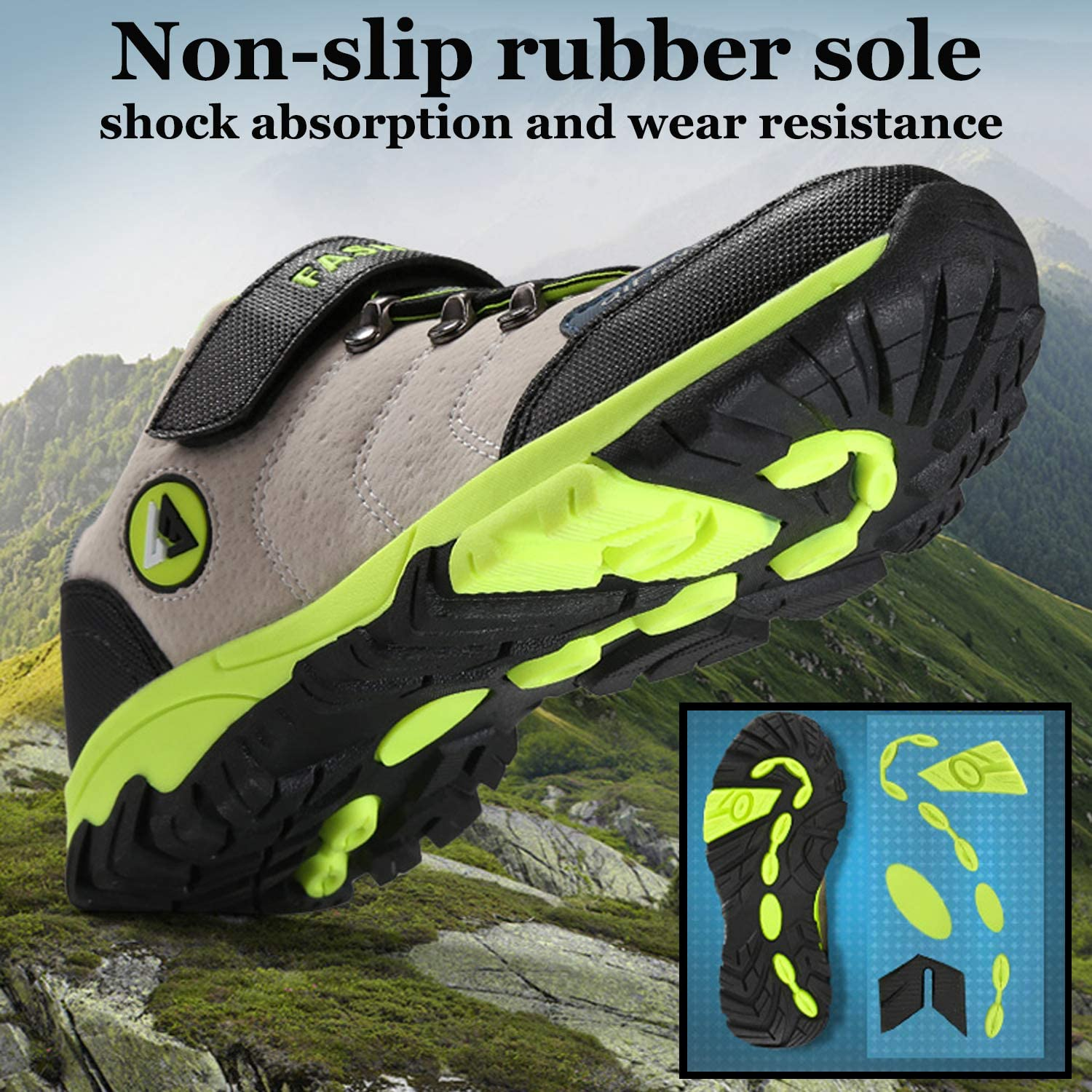 Unitysow Kids Shoes Boys Hiking Boots Girls Trekking Climbing Outdoor Shoes Lightweight Waterproof Childrens Walking Camping Shoes Unisex Sneakers