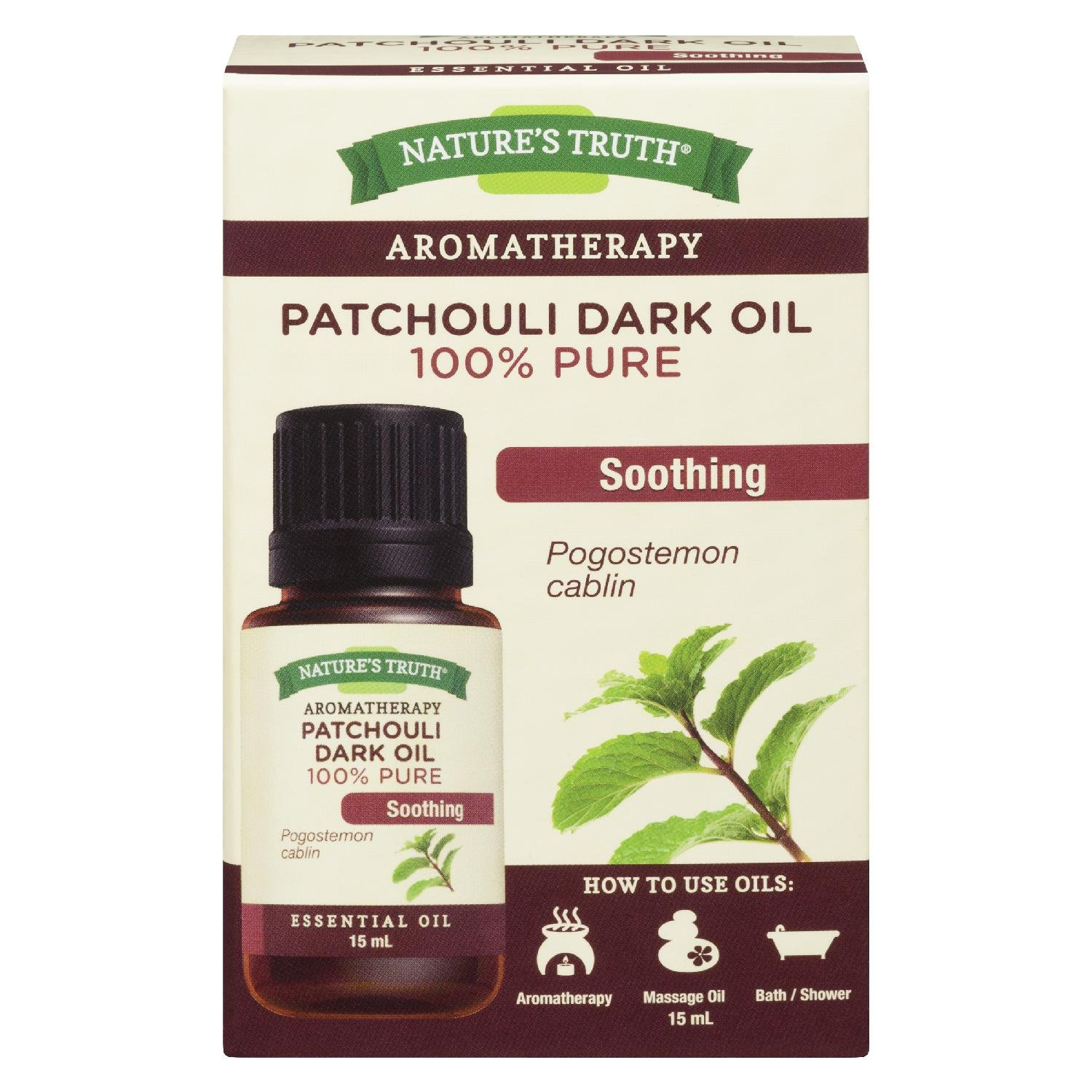 Nature's Truth essential oil, 100% pure patchouli dark oil, 1 Count ANB