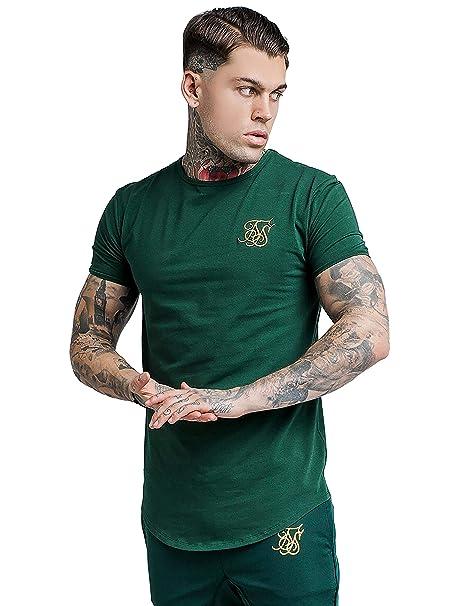 Sik Silk Camiseta para Gimnasia - Verde Intenso: Amazon.es: Ropa y accesorios