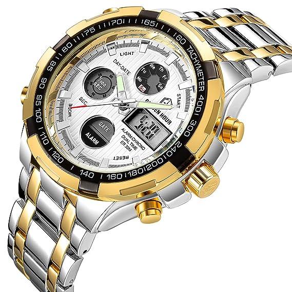 Affute - Reloj de pulsera, para hombre, resistente al agua, diseño militar,