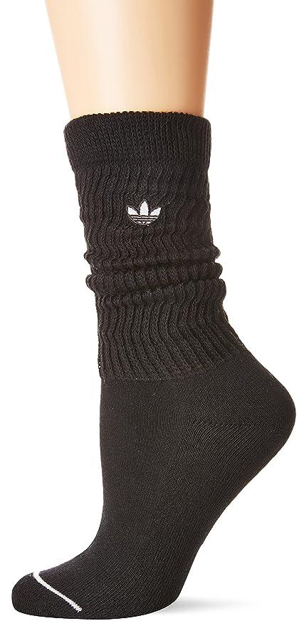 4511e4c84f2c8 Amazon.com : adidas Originals Women's Slouch Single Crew Sock White ...