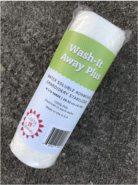 Crafty Gemini Wash-It Away Plus Water Soluble Stabilizer