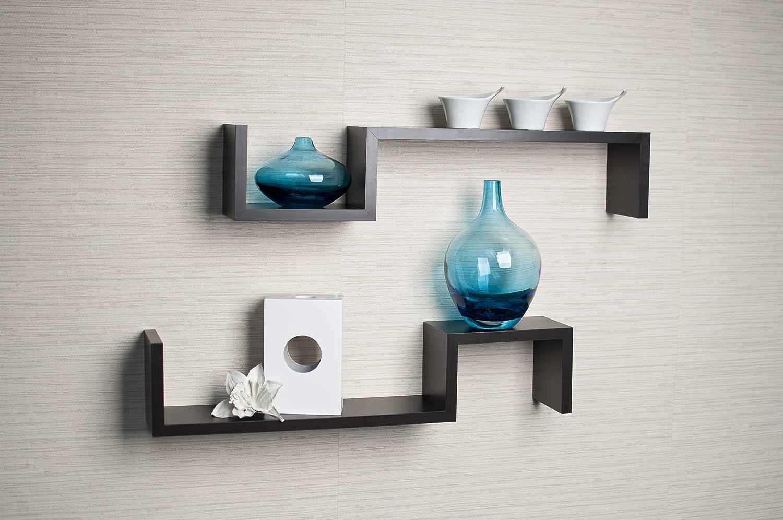 Amazon com  Danya B  White Laminate  S  Wall Mount Shelves  Set of 2   Home    Kitchen. Amazon com  Danya B  White Laminate  S  Wall Mount Shelves  Set of