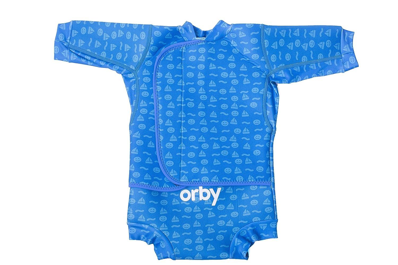 Orby swimi Gymi chaud en n/éopr/ène s/écurit/é pour b/éb/é piscine flotteur V/êtements Combinaison humide avec un sac de bain