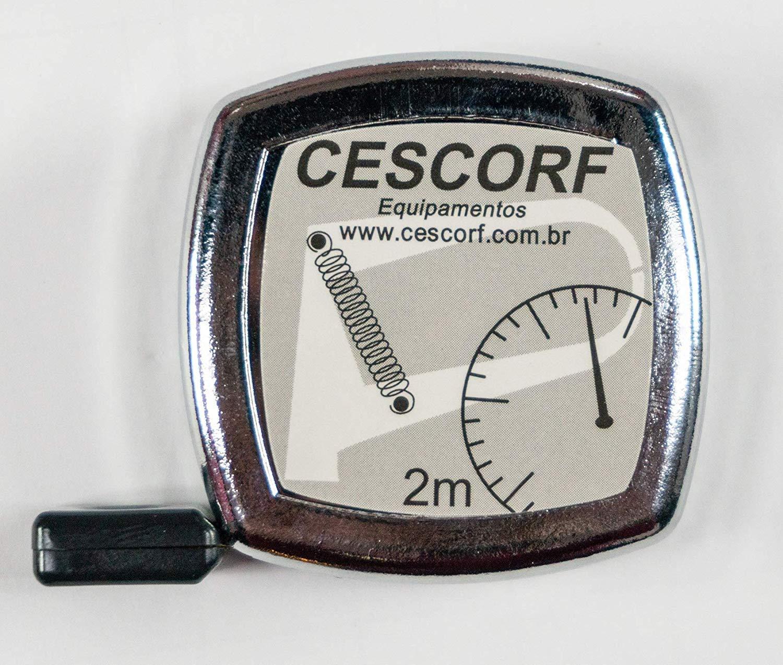 Cescorf Cinta M/étrica Antropom/étrica con Hoja Plana de Acero Flexible para Circunferencia de 6 mm x 2 m