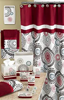 Popular Bath Bath Towels 3-Piece Set Suzanni Collection Burgundy Popular Bath Products 763744