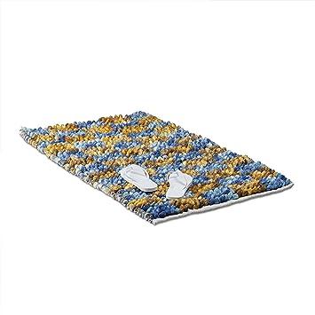 Amazon De Relaxdays Badematte Blau Poppy Mit Karos Weicher