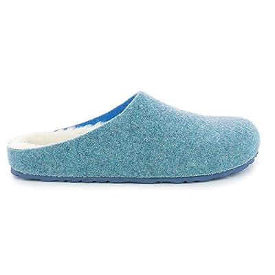 Bayton Keala Slippers, Blue Fur, 7 | Slippers