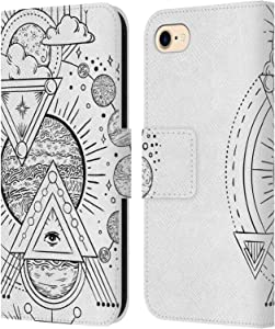 Head Case Designs Officially Licensed Haroulita Cosmos Magick - Tarot - Mystical Leather Book Wallet Case Cover Compatible with Apple iPhone 7 / iPhone 8 / iPhone SE 2020