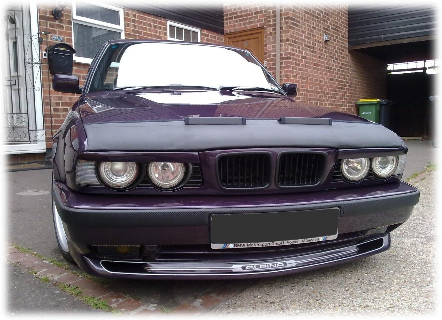 CARBON LOOK  CAR HOOD BRA fit BMW 5 E39 1995-2004 NOSE FRONT END MASK