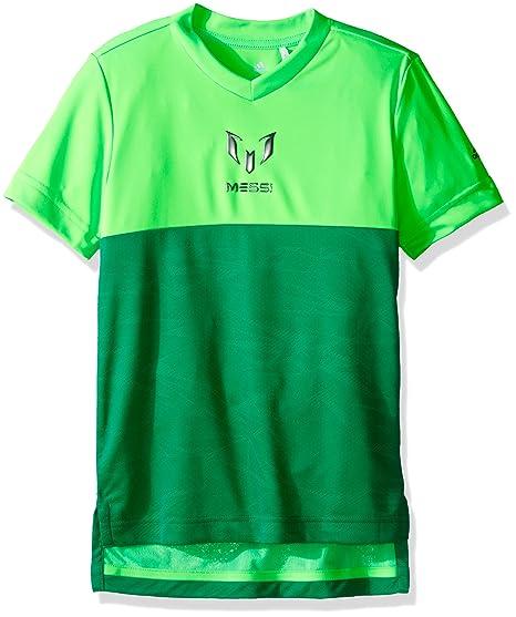 01062cedec2 Amazon.com : adidas Boys Soccer Messi Tee, Solar Green, X-Small ...