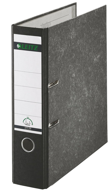 Leitz 10805095 - Archivador de anillas (A4), color negro: Amazon.es: Oficina y papelería