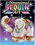 Art Sequin - KAD1121 - Peinture Au Numéro - Motif Eléphant - Sequin 3D - Coloris Aléatoire