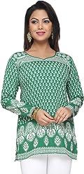 Women Fashion Printed Short Indian Kurti Tunic Kurta Top Shirt Dress 142D