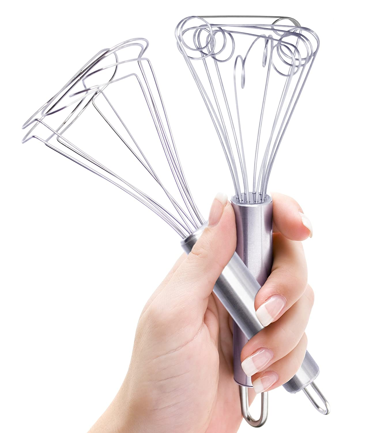 E4U Micro Whisk Stainless Steel Egg Beater - Small Whisk Set For All Cooks And Perfect Kitchen Utensils For Kids Cooking