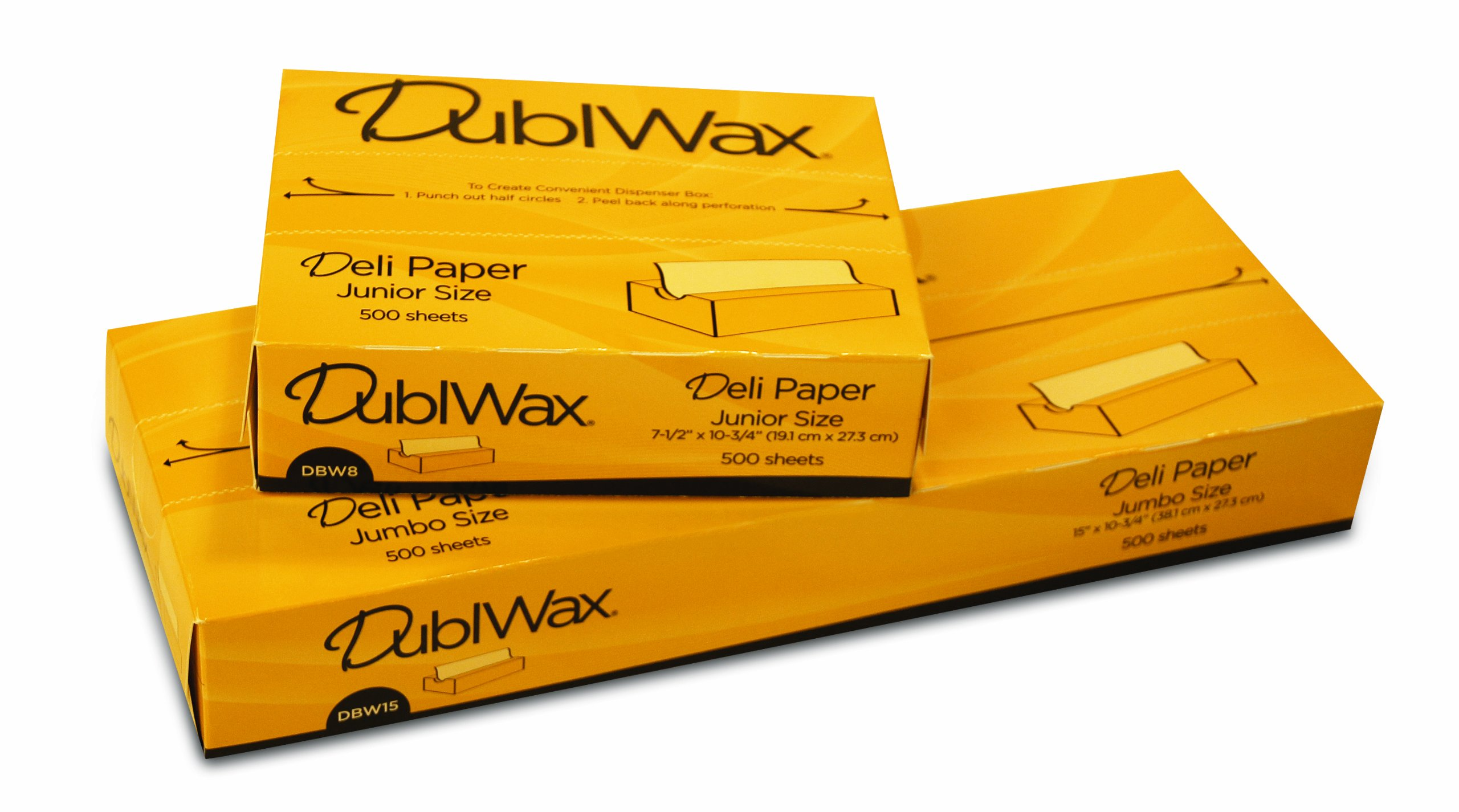 Bagcraft Papercon 018012 Interfolded Dubl Wax Deli Paper, 10-3/4'' Length x 12'' Width, DBW12 White (8 Packs of 750)