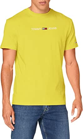 Tommy Jeans TJM Straight Logo tee Camisa para Hombre