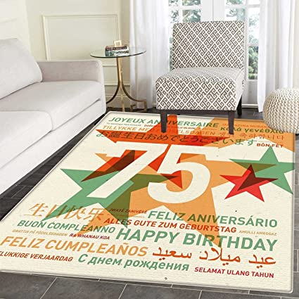 Amazon 75th birthday rug kid carpet worldwide greetings in 75th birthday rug kid carpet worldwide greetings in different languages and stars on retro background home m4hsunfo