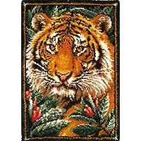 MCG Textiles 37626 Jungle Tiger Latch Hook Rug Kit