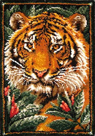 MCG Textiles 37626 Jungle Tiger Latch Hook Rug Kit