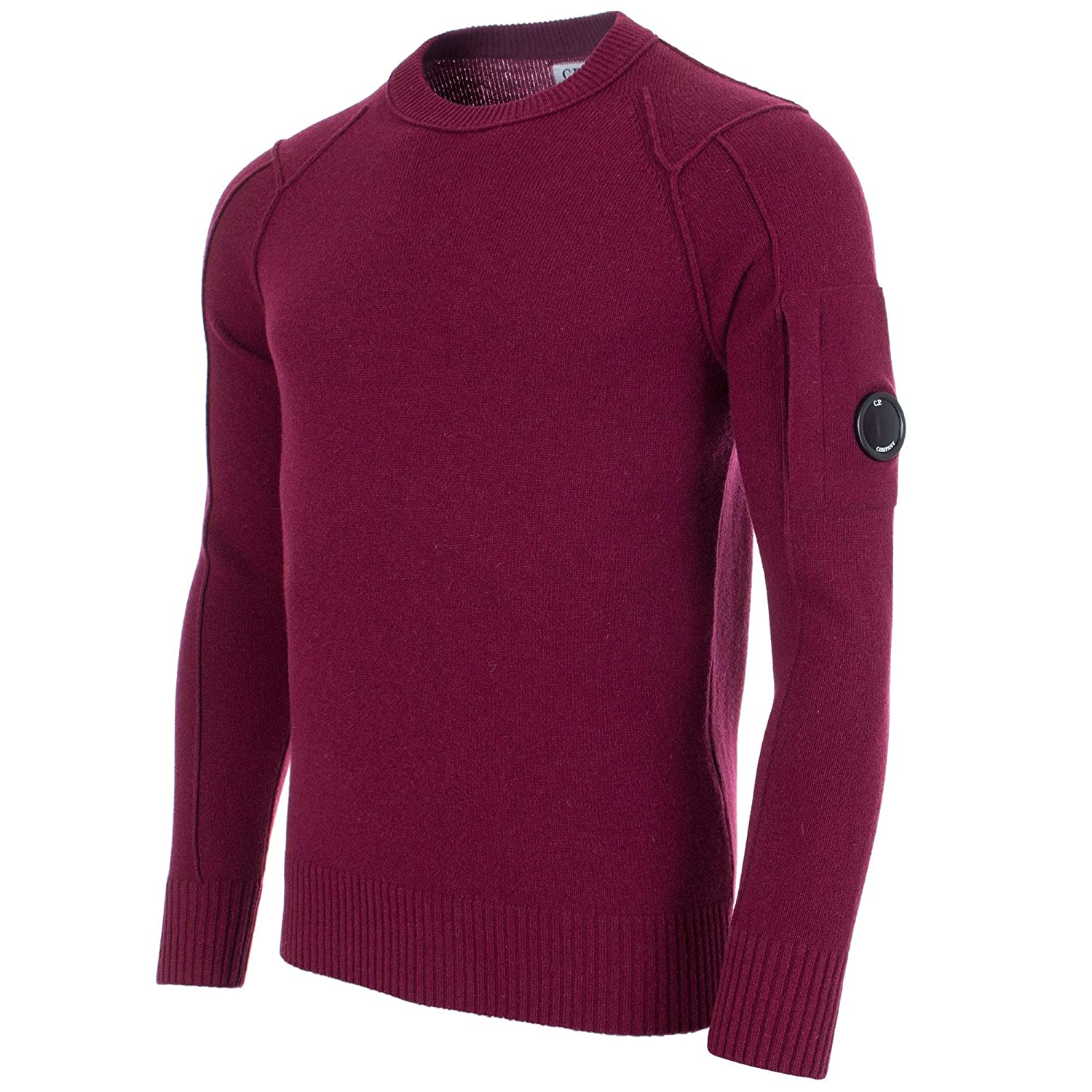 2fcae9bc009 C.P. Company Lens Sleeve Crew Neck Jumper: Amazon.co.uk: Clothing
