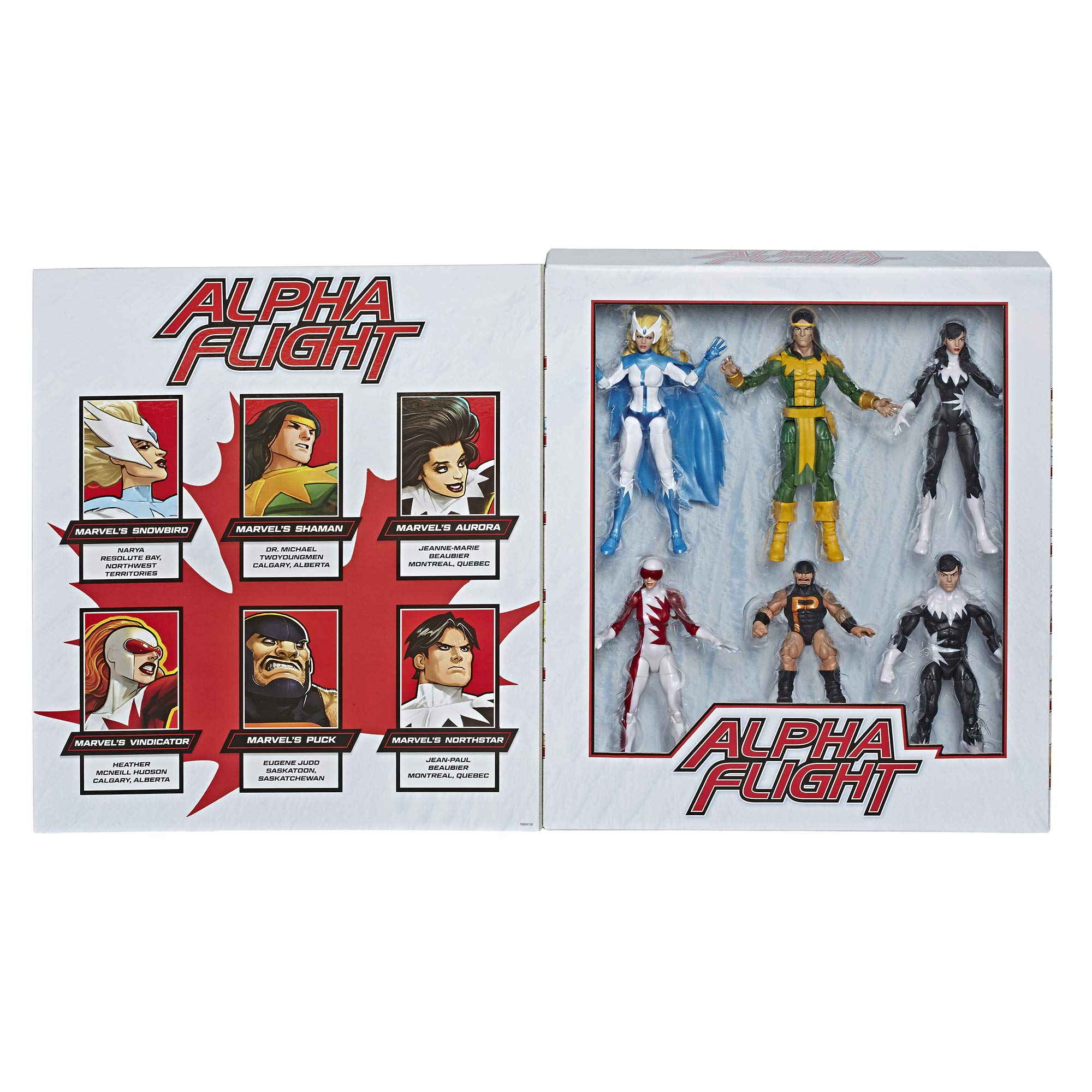 """Marvel Classic Hasbro Legends Series Toys 6"""" Collectible Action 6 Pack Alpha Flight 6 Pack, 6 Figures with Premium Design, for Kids Ages 4 & Up (Amazon Exclusive)"""