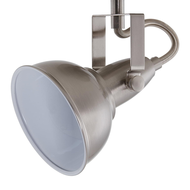Briloner Leuchten 2049-022 Plafonnier 2 spots pivotants 2 douilles E14-40 W max luminaire style vintage m/étal satin /& blanc - 30.4 x 10 x 18.1 cm
