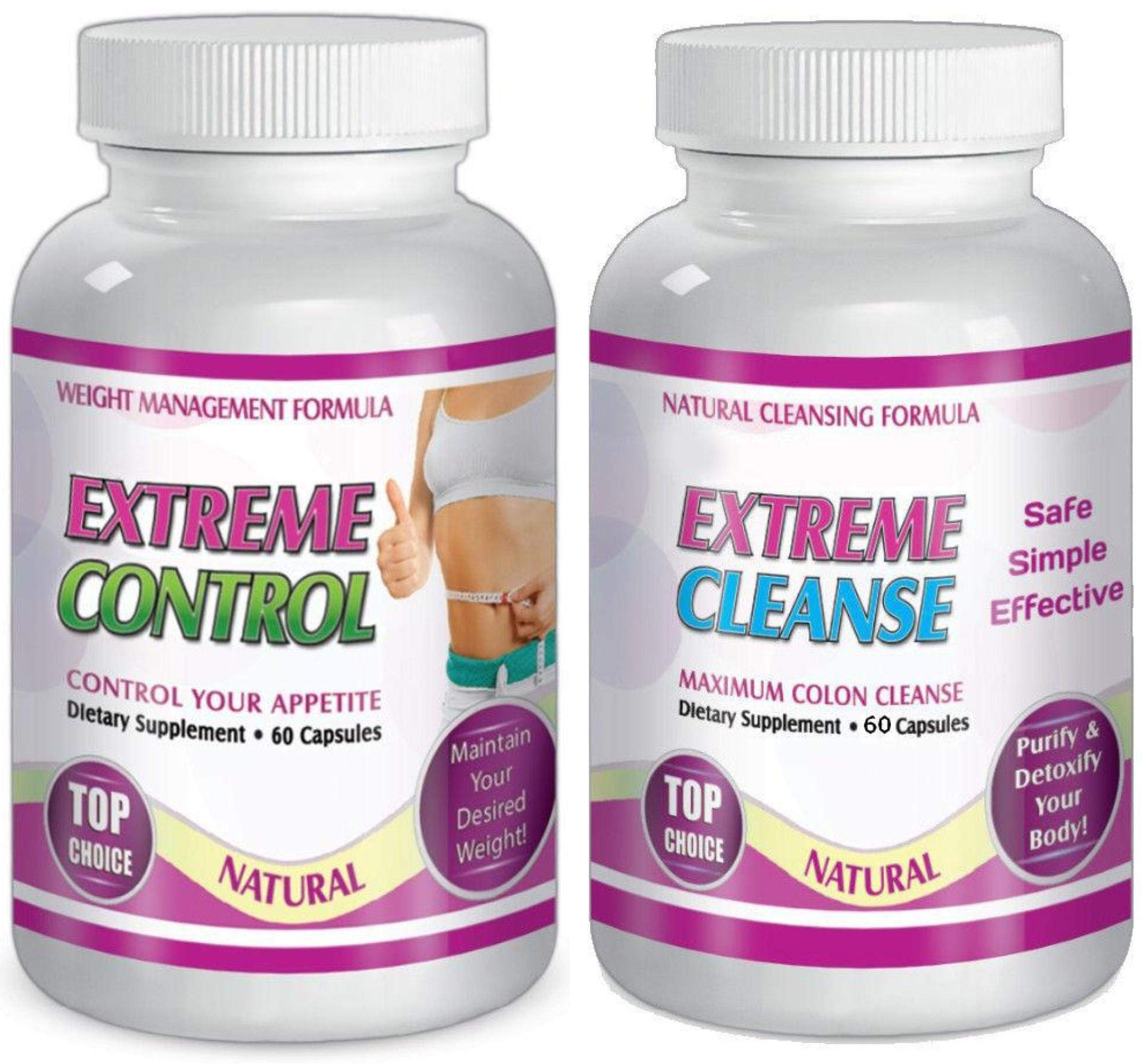 Maximum Diet Weight Loss Pills One Month Slim Weight EXTREME Control and Cleanse Kit