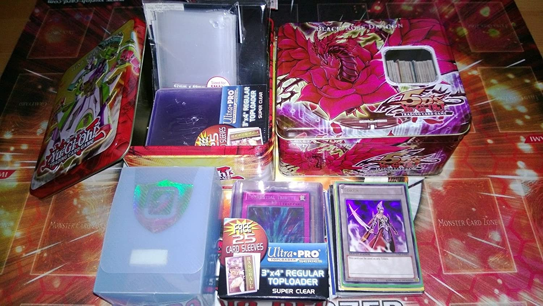Konami Lot of 100 Mint YuGiOh! Super Mega Cards Plus 4 Rares Plus Holo Super/Ultra Rare Inserted!